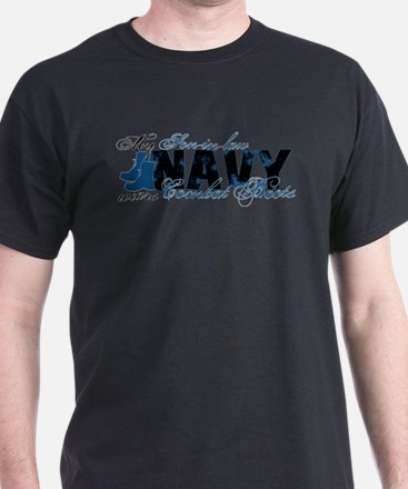 Son law Combat Boots - NAVY T-Shirt
