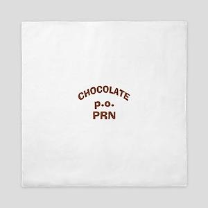Chocolate p.o. PRN Queen Duvet
