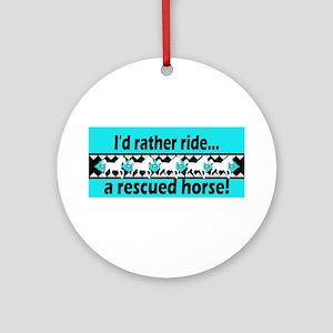 Horse Rescue Ornament (Round)