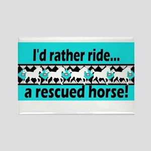 Horse Rescue Rectangle Magnet