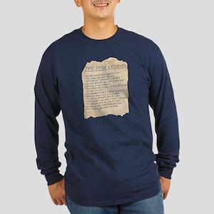IPO Trial Excuses Long Sleeve Dark T-Shirt