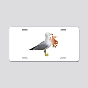 Seagull Crab Aluminum License Plate