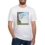 Tarzan runs out of Jungle Fitted T-Shirt
