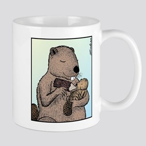 Mother Beaver and Baby Mug