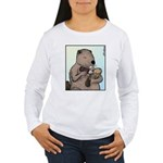 Mother Beaver and Baby Women's Long Sleeve T-Shirt