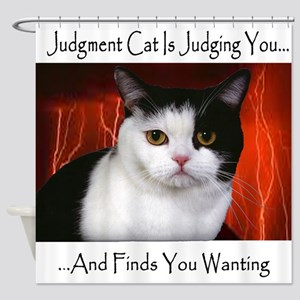Judgment Cat Shower Curtain