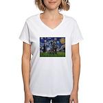 StarryNight-Scotty#1 Women's V-Neck T-Shirt