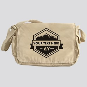 Delta Upsilon Mountains Ribbon Messenger Bag