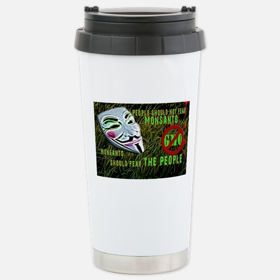 Say No 2 GMOs Stainless Steel Travel Mug