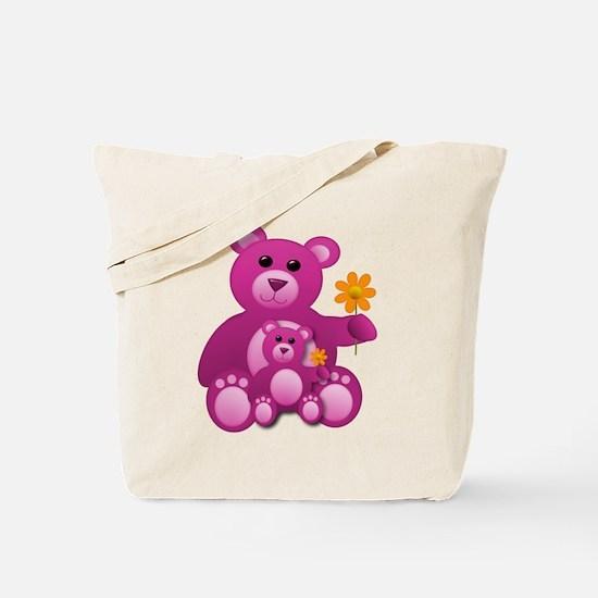 Pink Teddy Bears Tote Bag