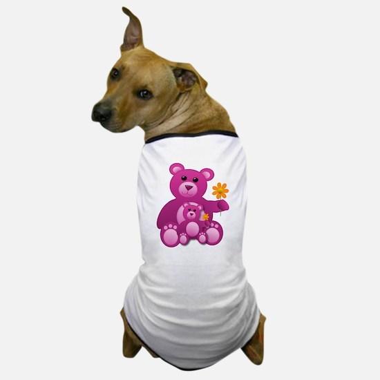 Pink Teddy Bears Dog T-Shirt