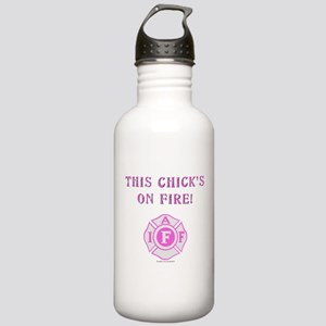 This Chicks on Fire Stainless Water Bottle 1.0L