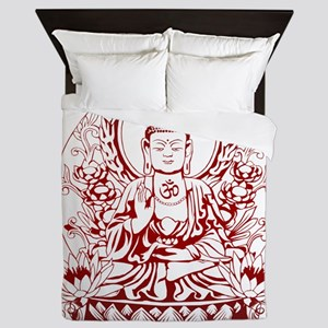 Gautama Buddha Queen Duvet