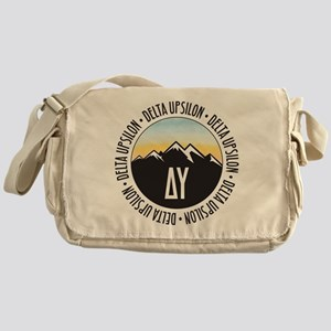 Delta Upsilon Mountains Sunset Messenger Bag