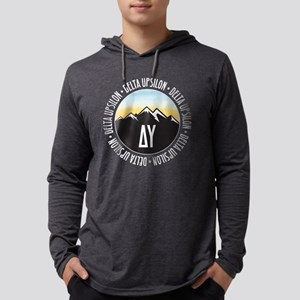 Delta Upsilon Mountains Sunset Mens Hooded Shirt