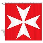 Maltese Cross Shower Curtain