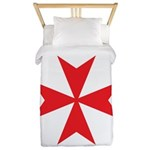 Red Maltese Cross Twin Duvet