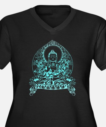Gautama Buddha Women's Plus Size V-Neck Dark T-Shi