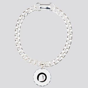 """Enso with Chinese for """"Bitch"""" Charm Bracelet, One"""