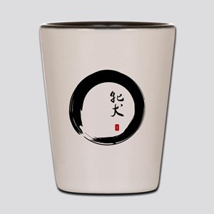 """Enso with Chinese for """"Bitch"""" Shot Glass"""
