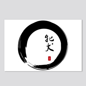"Enso with Chinese for ""Bitch"" Postcards (Package o"