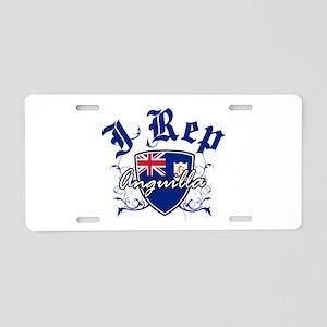 I Rep Anguilla Aluminum License Plate