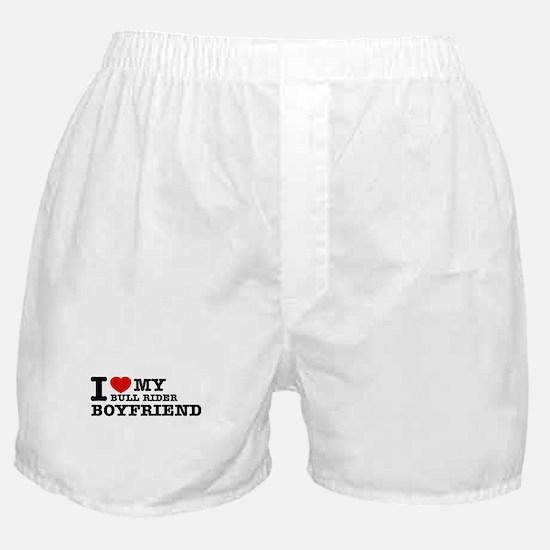 I love My Bull Rider Boyfriend Boxer Shorts