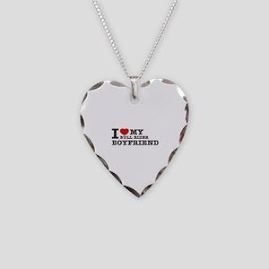 I love My Bull Rider Boyfriend Necklace Heart Char