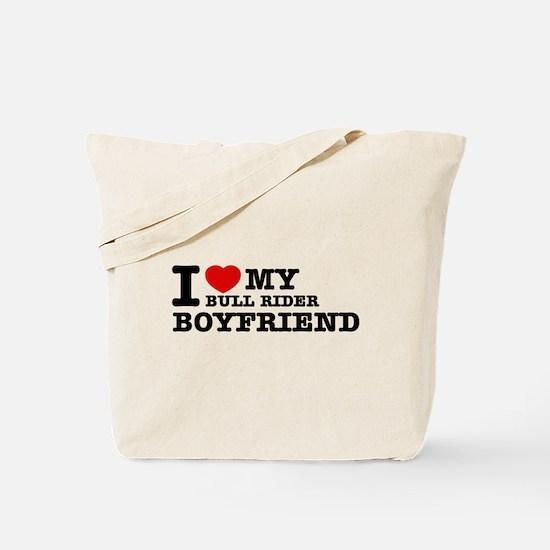 I love My Bull Rider Boyfriend Tote Bag