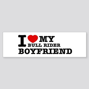 I love My Bull Rider Boyfriend Sticker (Bumper)