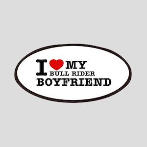 I love My Bull Rider Boyfriend Patches