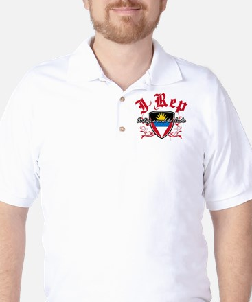 I Rep Antigua And Barbuda Golf Shirt