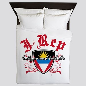 I Rep Antigua And Barbuda Queen Duvet