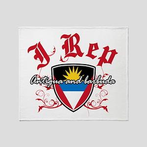I Rep Antigua And Barbuda Throw Blanket
