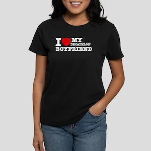 I love My Decathlon Boyfriend Women's Dark T-Shirt