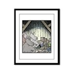 Angry Rhinos Framed Panel Print