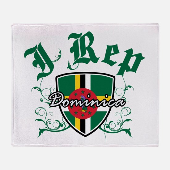 I Rep Dominica Throw Blanket