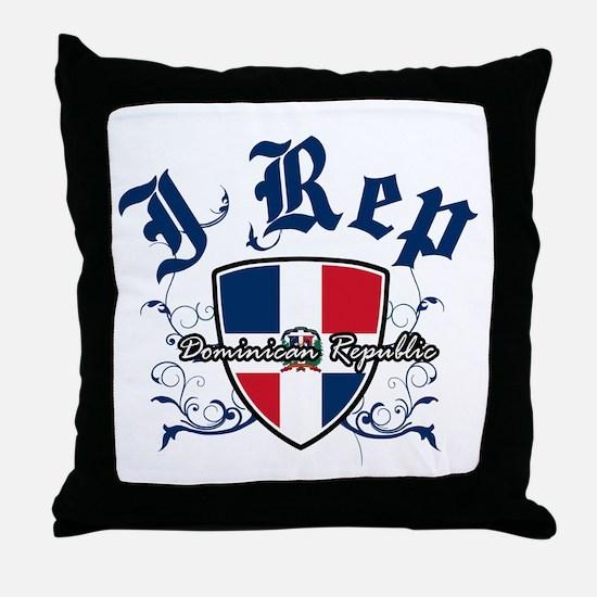 I Rep Dominican Republic Throw Pillow