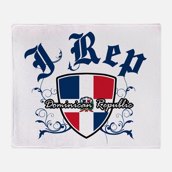 I Rep Dominican Republic Throw Blanket