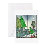 Human Christmas tree Greeting Cards (Pk of 20)