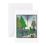 Human Christmas tree Greeting Cards (Pk of 10)