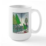 Human Christmas tree Large Mug
