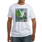 Human Christmas tree Fitted T-Shirt