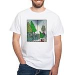 Human Christmas tree White T-Shirt