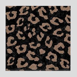 SKIN5 BLACK MARBLE & BROWN COLORED PE Tile Coaster