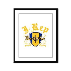I Rep Barbados Framed Panel Print