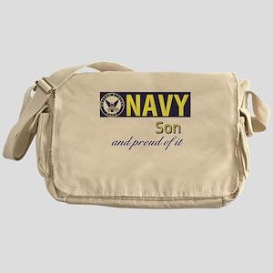 Navy Son Messenger Bag