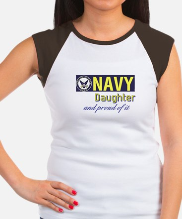 Navy Daughter.png Women's Cap Sleeve T-Shirt