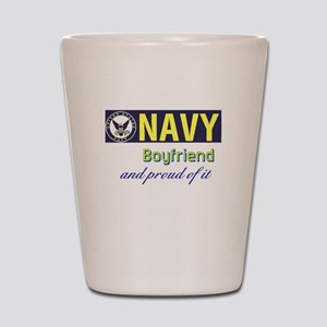 Navy Boyfriend Shot Glass