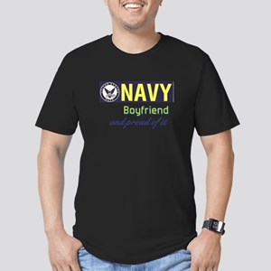 Navy Boyfriend Men's Fitted T-Shirt (dark)